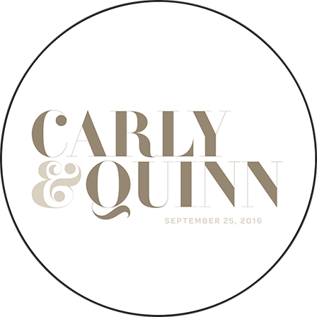 Carly Letterpress Coaster Design Medium