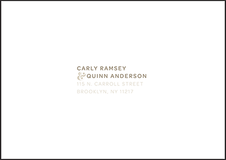 Carly Letterpress Reply Envelope Design Medium