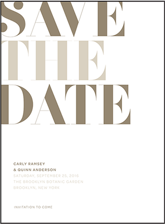 Carly Letterpress Save The Date Design Medium