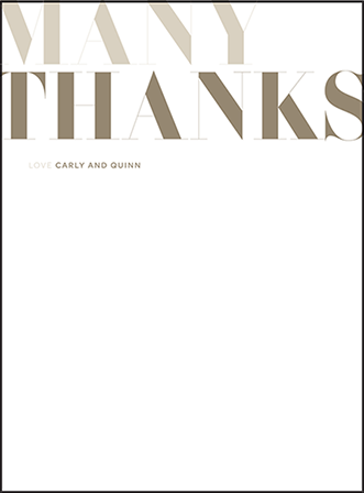 Carly Letterpress Thank You Card Flat Design Medium