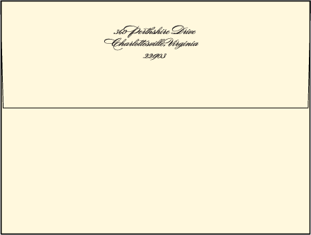 Carlyle Letterpress Envelope Design Medium