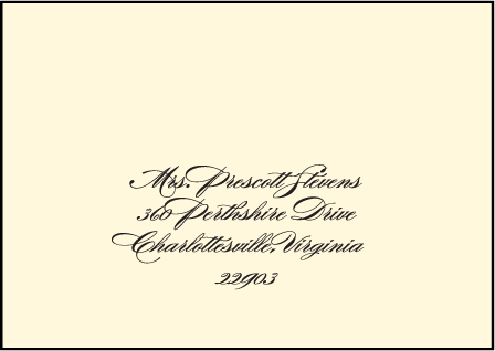 Carlyle Letterpress Reply Envelope Design Medium