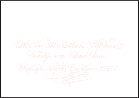 Carolina Letterpress Reply Envelope Design Medium