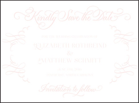 Carolina Letterpress Save The Date Design Medium