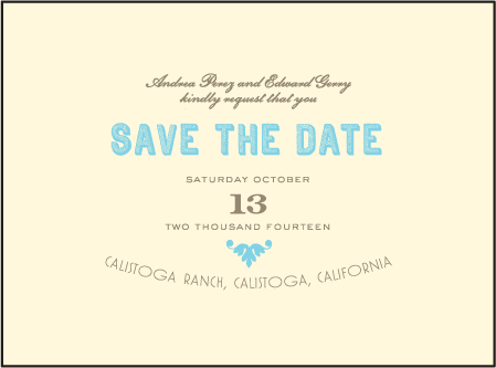 Carte de Visite Letterpress Save The Date Design Medium