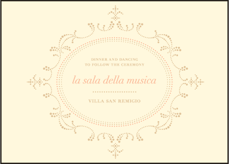 Cartoccio Letterpress Reception Design Medium