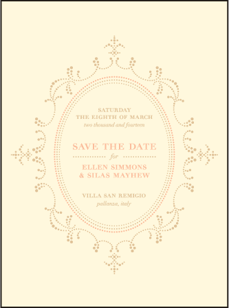 Cartoccio Letterpress Save The Date Design Medium