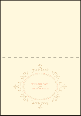 Cartoccio Letterpress Thank You Card Fold Design Medium