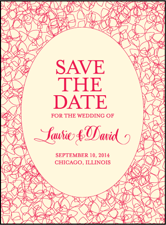 Cascade Letterpress Save The Date Design Medium