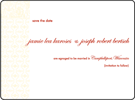 Cecilia Letterpress Save The Date Design Medium
