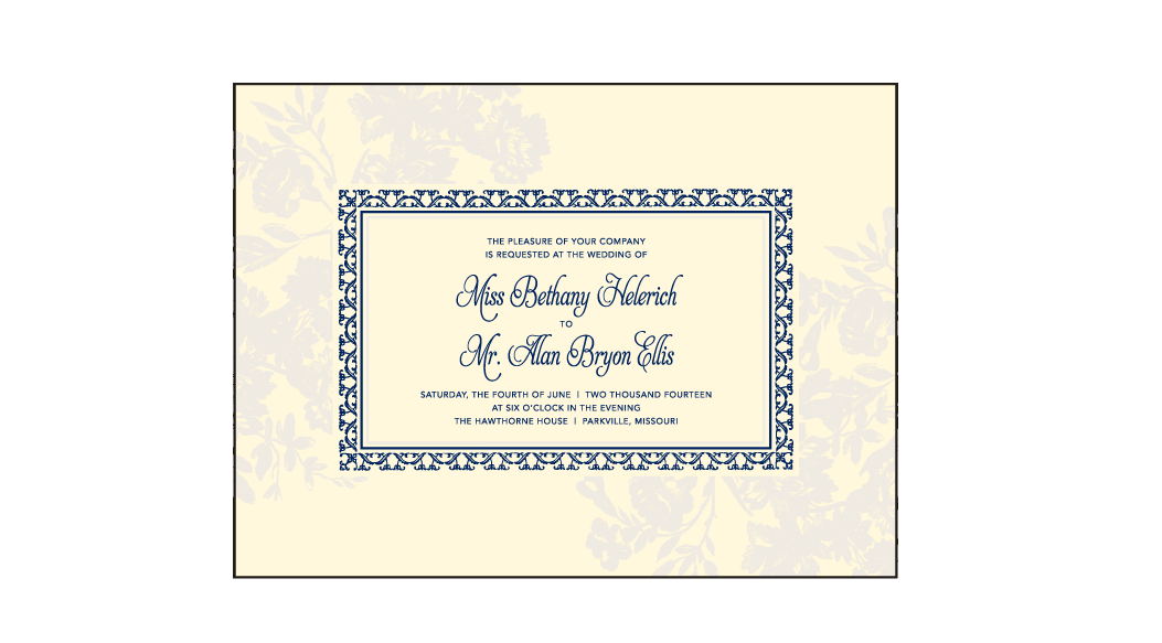 Cecily Letterpress Invitation Design Medium