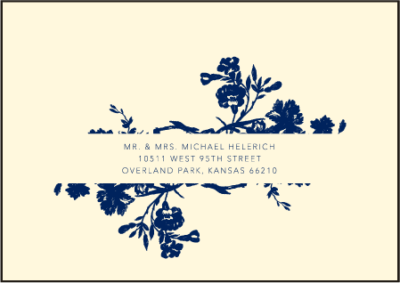 Cecily Letterpress Reply Envelope Design Medium