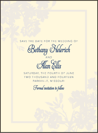 Cecily Letterpress Save The Date Design Medium