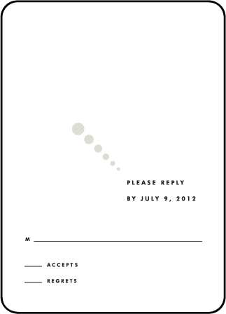 Champagne Letterpress Reply Design Medium