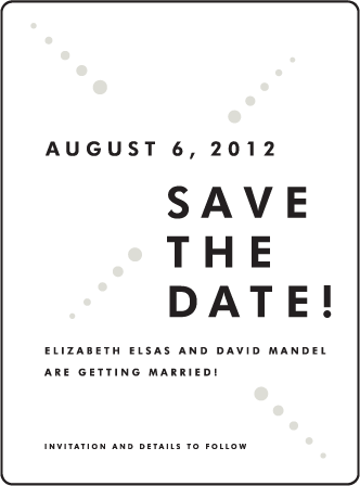 Champagne Letterpress Save The Date Design Medium