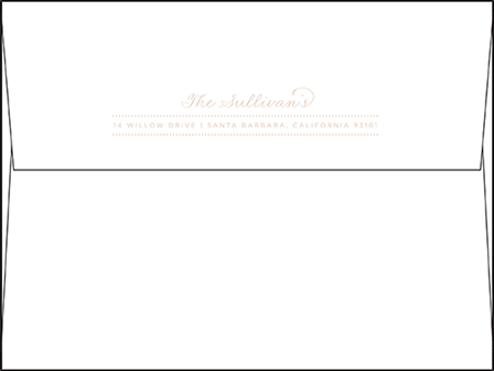 Charlotte Letterpress Envelope Design Medium