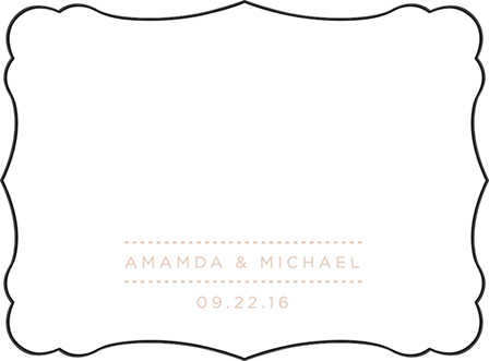 Charlotte Letterpress Placecard Flat Design Medium