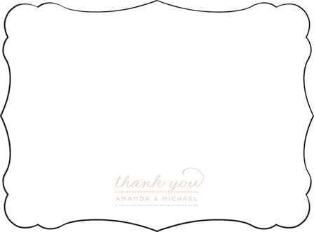 Charlotte Letterpress Thank You Card Flat Design Medium