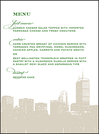 Charmed Boston Letterpress Menu Design Medium