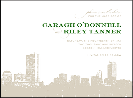 Charmed Boston Letterpress Save The Date Design Medium