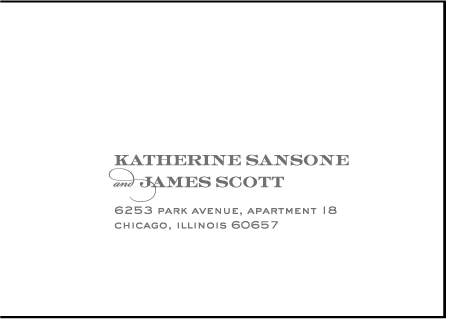 Charmed Chicago Letterpress Reply Envelope Design Medium