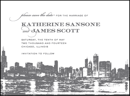 Charmed Chicago Letterpress Save The Date Design Medium