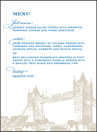 Charmed London Letterpress Menu Design Medium