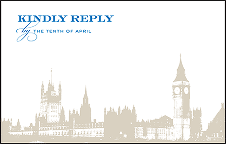 Charmed London Letterpress Reply Postcard Front Design Medium