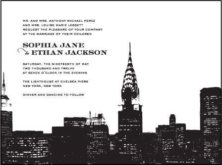Charmed New York Letterpress Invitation Design Medium