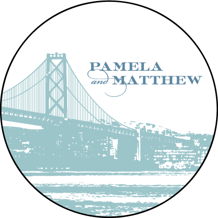 Charmed San Francisco Letterpress Coaster Design Medium