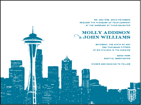 Charmed Seattle Letterpress Invitation Design Medium
