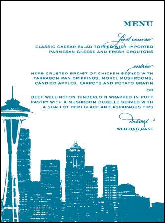 Charmed Seattle Letterpress Menu Design Medium