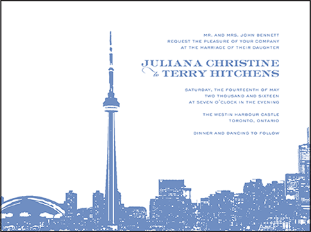 Charmed Toronto Letterpress Invitation Design Medium