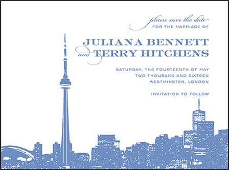 Charmed Toronto Letterpress Save The Date Design Medium