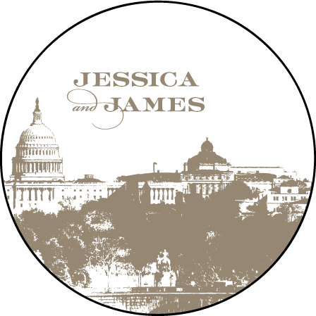 Charmed Washington DC Letterpress Coaster Design Medium