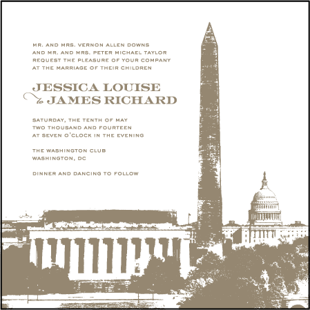 Charmed Washington DC Letterpress Invitation Design Medium