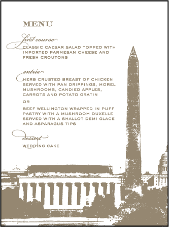 Charmed Washington DC Letterpress Menu Design Medium