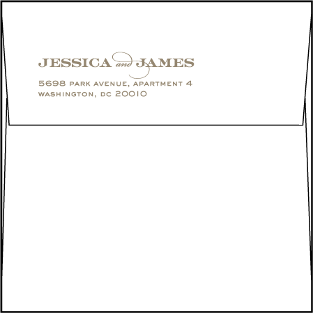 Charmed Washington DC Letterpress Save The Date Envelope Design Medium