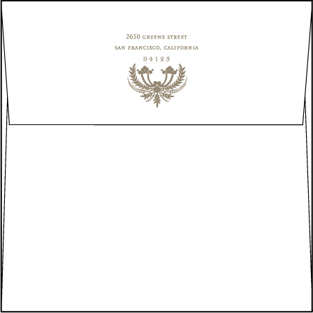 Chelsea Letterpress Envelope Design Medium