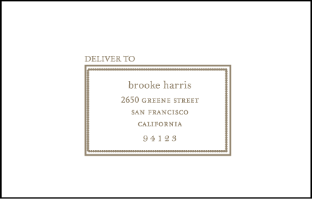 Chelsea Letterpress Reply Envelope Design Medium