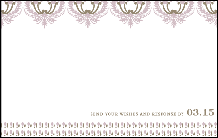 Chelsea Letterpress Reply Postcard Front Design Medium