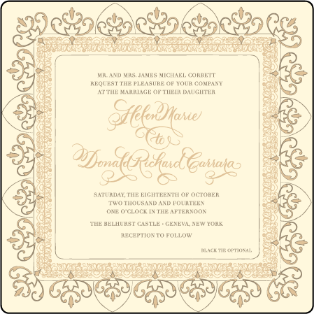 Claddagh Letterpress Invitation Design Medium