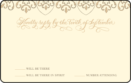 Claddagh Letterpress Reply Postcard Front Design Medium
