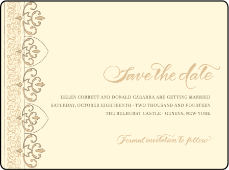 Claddagh Letterpress Save The Date Design Medium