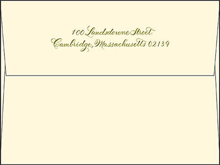 Classic Calligraphy Letterpress Envelope Design Medium