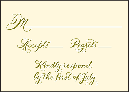 Classic Calligraphy Letterpress Reply Design Medium