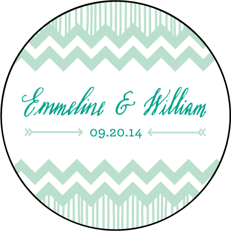 Classic Chevron Letterpress Coaster Design Medium