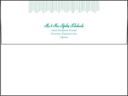 Classic Chevron Letterpress Envelope Design Medium