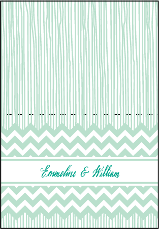 Classic Chevron Letterpress Thank You Card Fold Design Medium