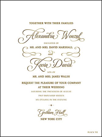 Classic Manhattan Letterpress Invitation Design Medium